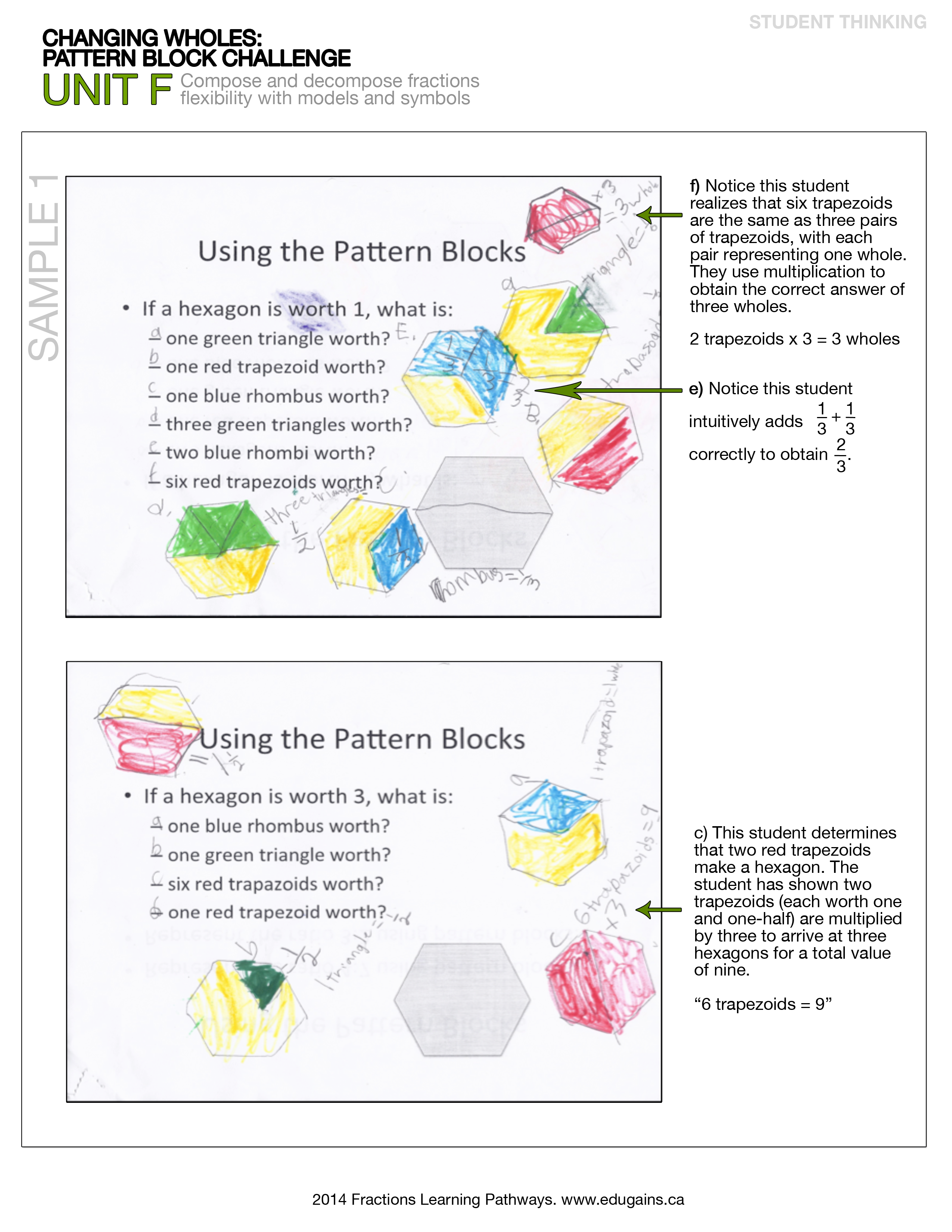 Pattern Block Fractions Cool Inspiration Design